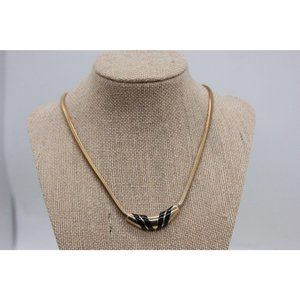 Avon  15 in Choker Style Necklace Gold toned metal
